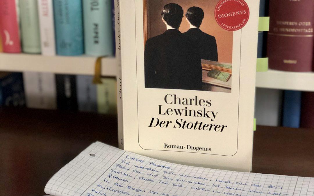 |Rezension| Der Stotterer – Charles Lewinsky
